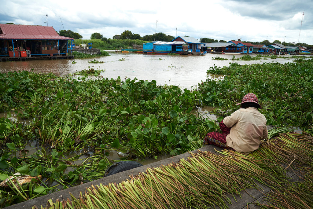 Local life at Tole Sap, Cambodia