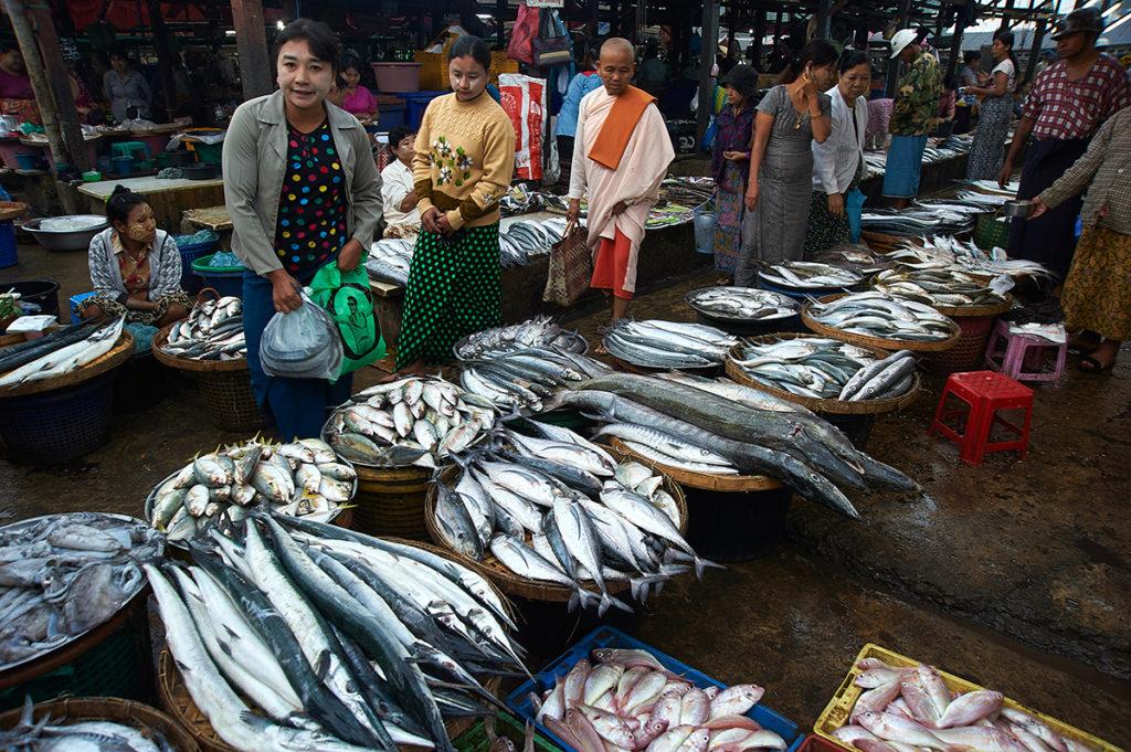 Morning market at Dawei
