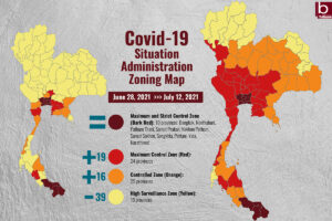 """City lockdown and night curfew to be enforced in Bangkok and """"Dark Red"""" provinces to stem fast-spreading Delta"""